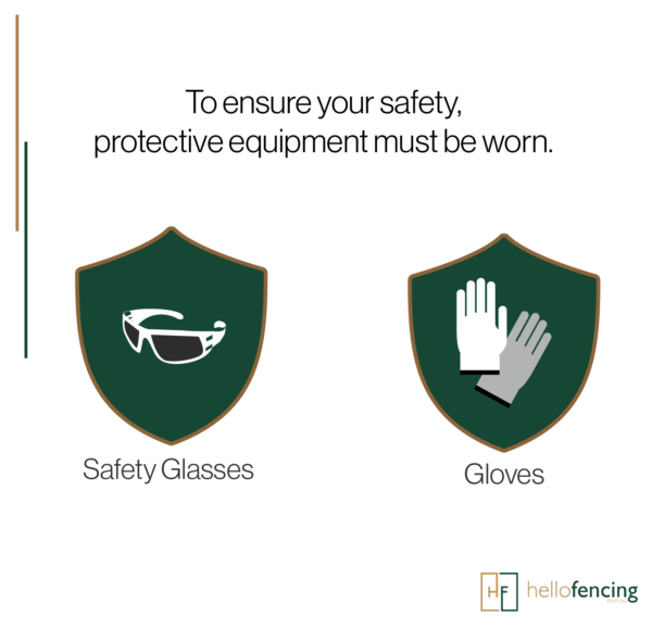 Personal protective equipments. ensure your safety by wearing earmuffs and gloves and glasses. instructions of personal safety. Eye protection. ear protection. Hand protection.